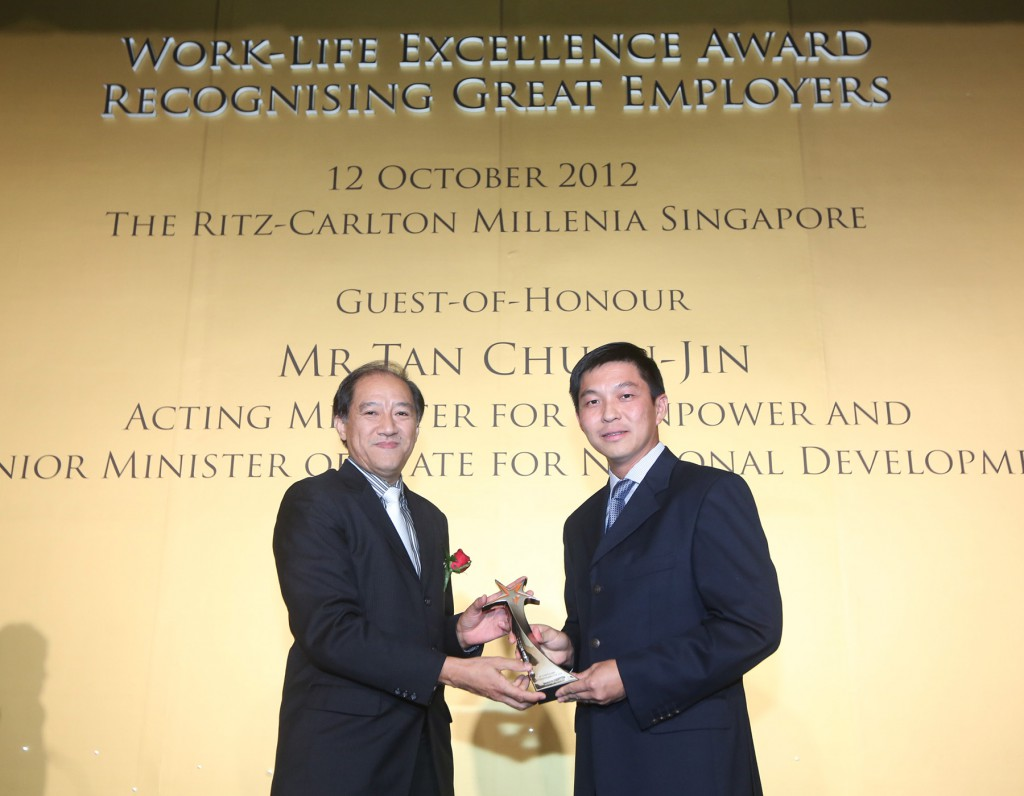 Work-Life Excellence Award – 2012