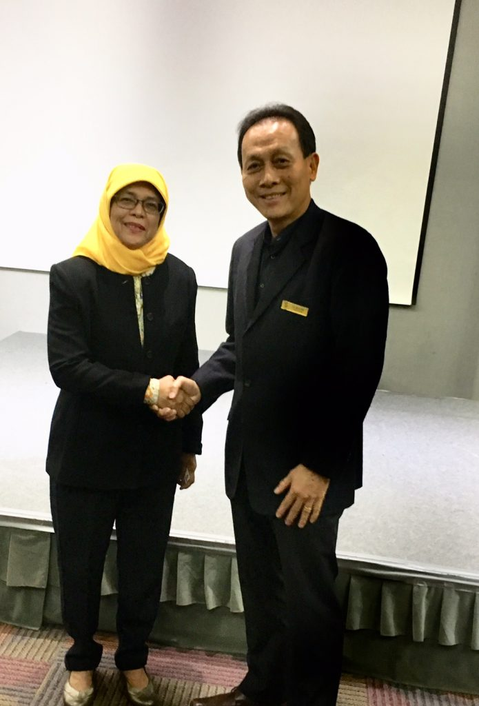 With Madam Halimah Yacob