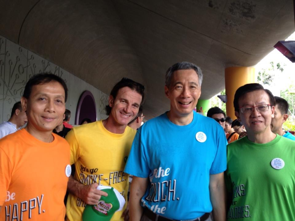 With Mr Lee Hsien Loong